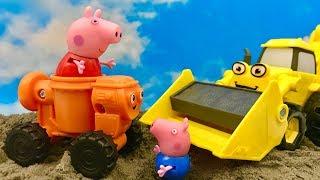 Świnka Peppa i Miksi (Bob Budowniczy)  Ratujcie Świnke Peppe  Bajka dla dzieci Po POLSKU