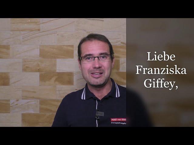 Liebe Franziska Giffey,