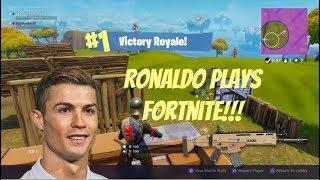 Cristiano Ronaldo Plays Fortnite!!! Victory Royale!!!!
