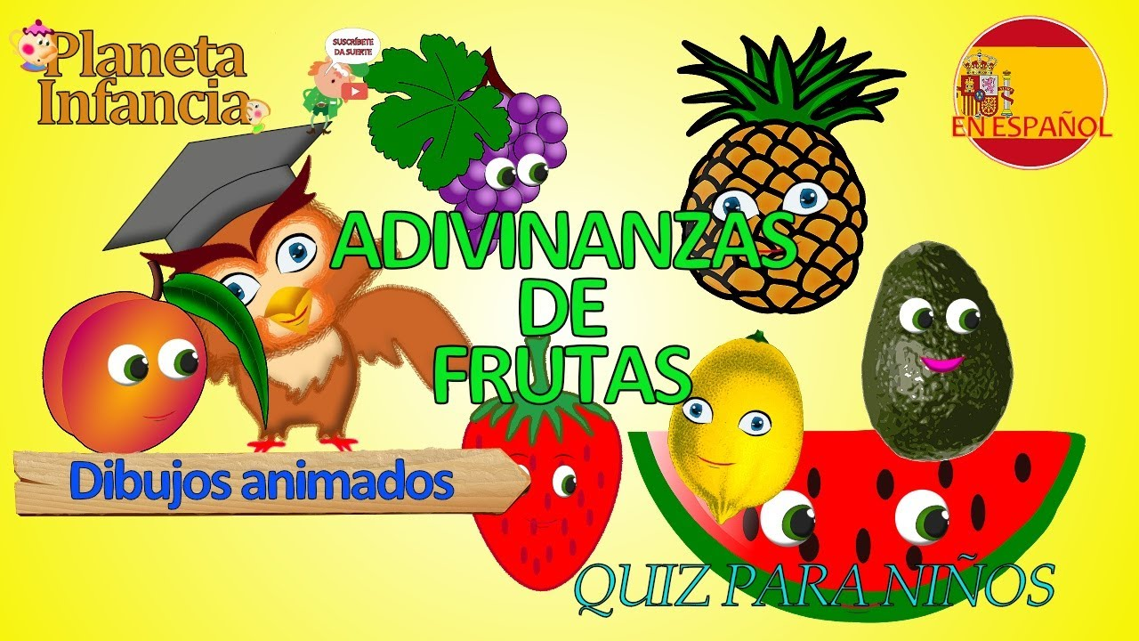 Adivinanzas Divertidas Y Acertijos De Frutas Animadas Y Con Letra Preguntas Y Respuestas Para Niños Youtube