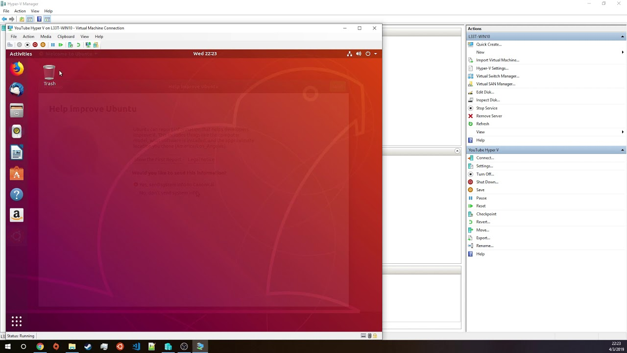 Hyper-V 101: Creating a Linux VM with