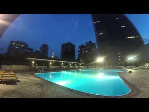 Tokyo Pool Downtown at Night