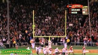 2002 Rose Bowl: Miami Hurricanes vs Nebraska Cornhuskers