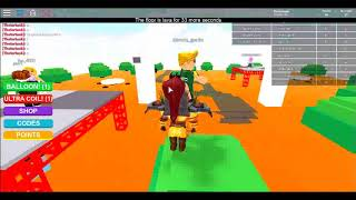 We must survive the fire (The floor Is Lava Roblox)