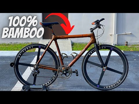 THIS BICYCLE IS 100% MADE FROM BAMBOO!! (CALFEE BAMBOO BIKE) thumbnail