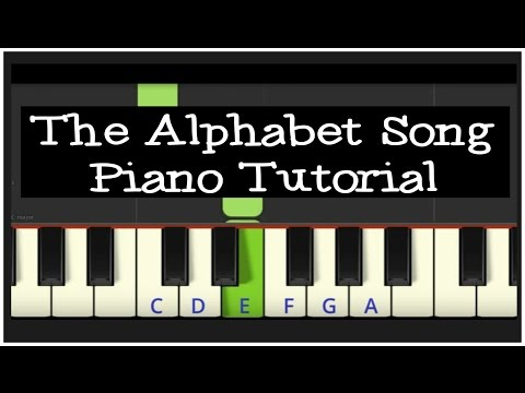 Easy Piano Tutorial: The Alphabet Song