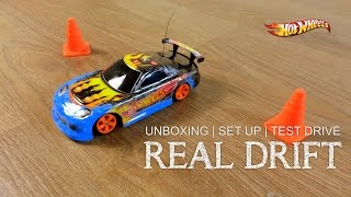 Hot Wheels Real drift Radio Control car 1:32 scale | Unboxing | Set Up | Test drive | Mattel cars