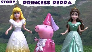 Peppa Pig Princess Play Doh Story Episode Dance Studio Sleeping Beauty Princess Aurora and Belle