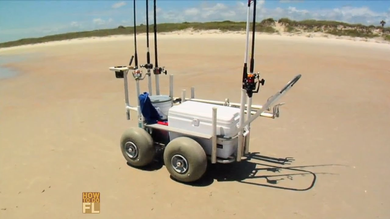 Best surf fishing cart youtube for Folding fishing cart
