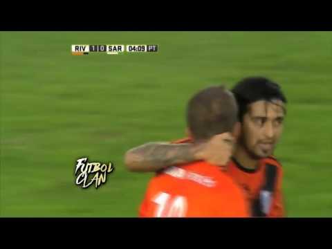 Gol de Ivan Alonso. River Plate - Sarmiento (Junin) - Torneo de primera división 2016-