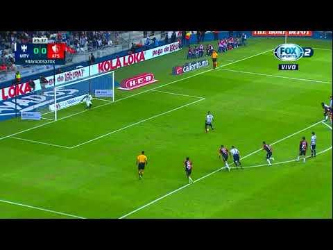 Gol de N. Sánchez | Monterrey 1 - 0 Atlas | Liga MX - Apertura 2018 - Jornada 17 | LIGA Bancomer MX