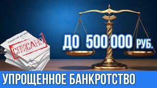 Упрощенное банкротство физических лиц в 2020 году с суммой до 500 000 рублей