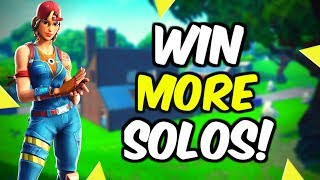 How To Get More Solo Wins In Fortnite Season 10!