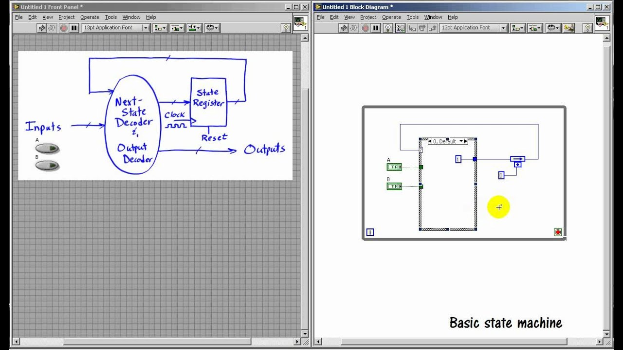LabVIEW FPGA: Implement a state machine in LabVIEW