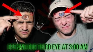 (WE GOT CHASED) DO NOT OPEN YOUR THIRD EYE AT 3:00 AM *THIS IS WHY* 3 AM THIRD EYE CHALLENGE!