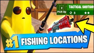 CATCH A WEAPON USING A FISHING ROD LOCATIONS (Fortnite Chapter 2 Season 1 Week 1 Challenges)