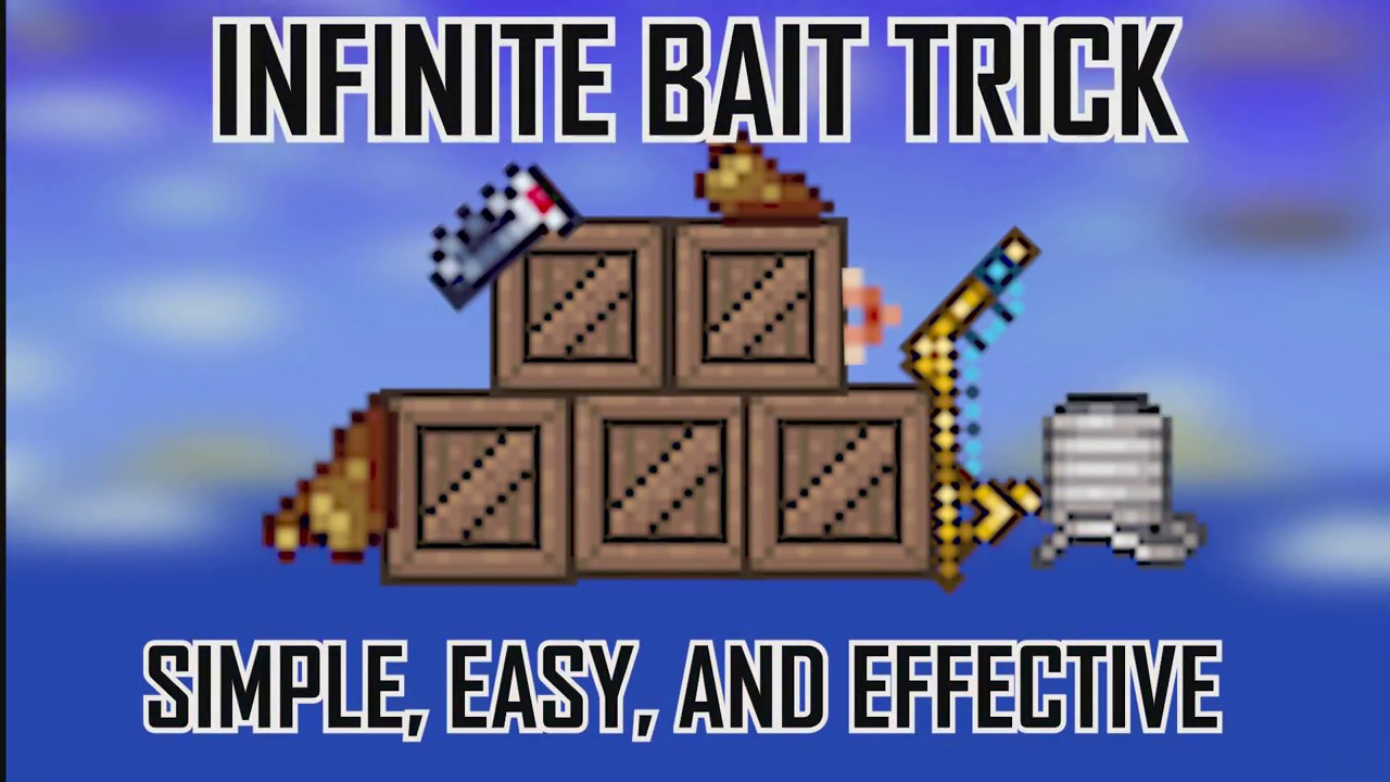 how to get infinite bait in terraria