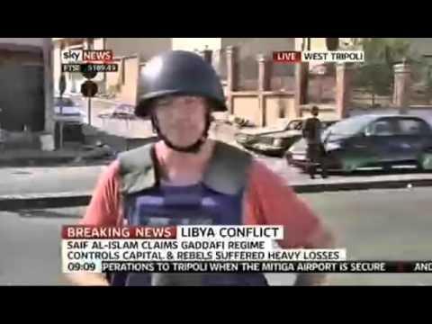 Fake Lie News report from Tripoli - Sky News