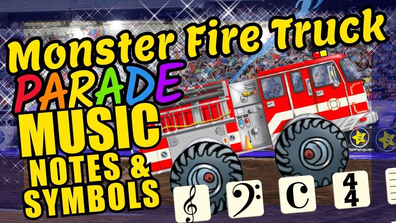 Monster Fire Trucks Teaching Musical Notation And Symbols