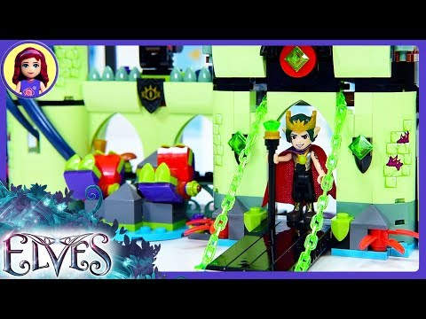 Lego Elves Breakout from the Goblin King's Fortress Part 1 Build Review Silly Play - Kids Toys