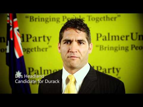 Palmer United Party - Des Headland - Highest rate of indigenous infant deaths