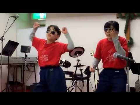 教会で、JK姉妹がラッスンゴレライをやってみた。