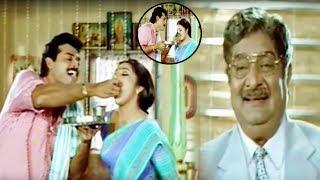 Venkatesh And Meena Cute Movie Scene   Telugu Best Movie Scenes   Vendithera