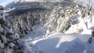Удивительный фрирайд на горных лыжах