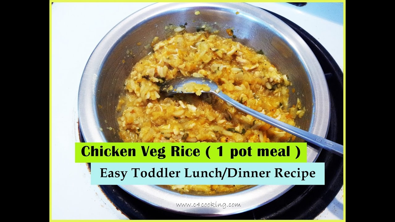 Chicken veg rice 1 pot meal easy toddler lunchdinner recipe chicken veg rice 1 pot meal easy toddler lunchdinner recipe 11 months baby meal forumfinder