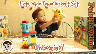 Lego Duplo Town Airport Set Unboxing Kids Pretend Play | J Baby FabPlaytime