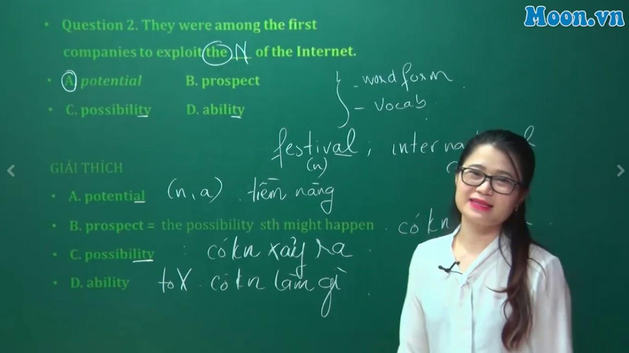 [Moon.vn] – Cô Đỗ Vân Anh – Chữa đề chính thức kỳ thi THPT Quốc Gia 2017 – Mã đề thi 402 (phần 1)