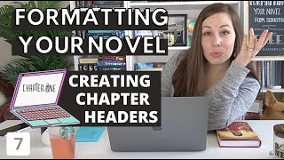 Creating fancy CHAPTER HEADERS in CANVA when formatting your novel from scratch (Formatting Part 7)
