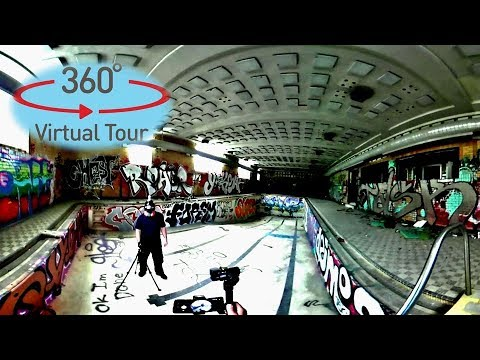 360 VR Abandoned City Health Club Giant Swimming Pool Urbex