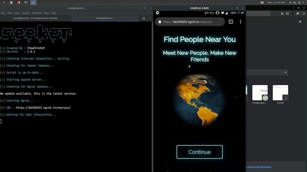Seeker - Accurately Locate Smartphones using Social Engineering