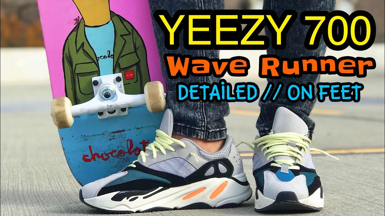 d981f48b2bf Yeezy 700 Wave Runner ON FEET   Detailed Look. Fake Education