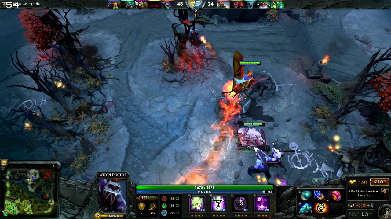 dota 2 witch doctor support gameplay online 5 vs 5 multiplayer