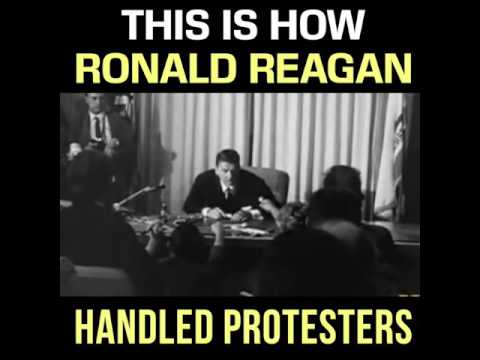 Proof Ronald Reagan Didn't Pander To Protesters