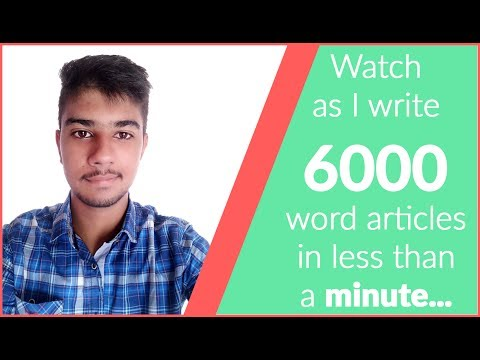 WP Contentio | Watch me create 6, 1000+ words articles in less than 10 minutes..
