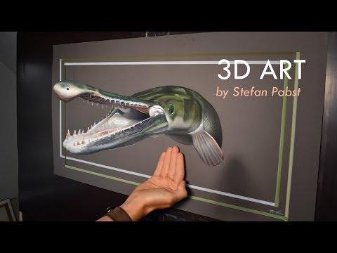 Big Gar Alligator 3D Art/ speed painting nat geo