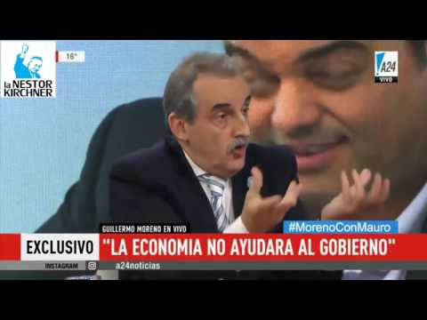 Guillermo Moreno en A24 25/05/17 Completo