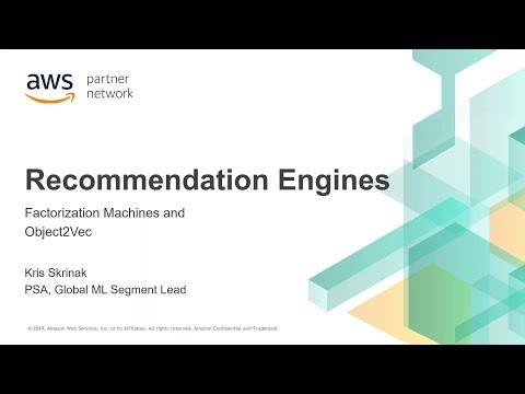 AWS Partner Webinar: Object2Vec on Amazon SageMaker
