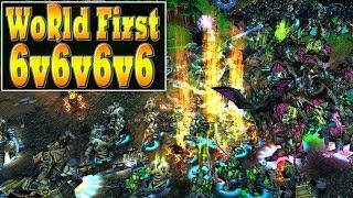 Warcraft 3 - WORLD FIRST 6v6v6v6