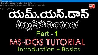 MS DOS TUTORIAL IN TELUGU #1 DOS INTRODUCTION BY LEARN COMPUTER TELUGU CHANNEL