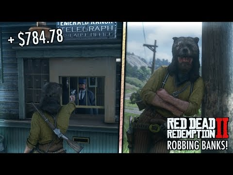 ROBBING BANKS/STORES IN RED DEAD REDEMPTION 2!