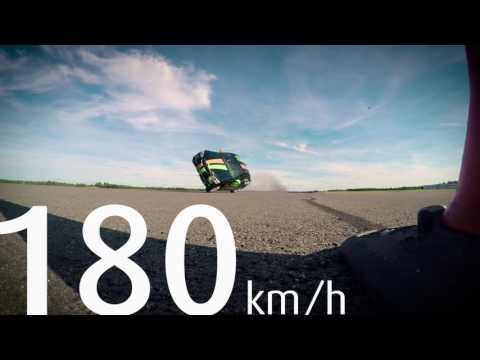 Nokian Tyres -  Watch The Guinness World Record Fastest Side Wheelie In A Car!
