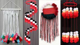 10 Beautiful Home Decor Wall Hanging Ideas ! Diy Woolen Craft