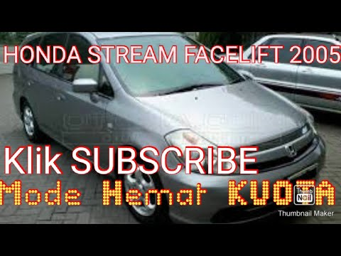 Honda Stream 2005 1.7 Manual Transmisi