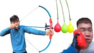 PHD | Thử Thách Bắn Cung | Archery Balloon Challenge