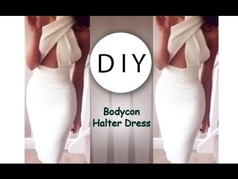 diy-bodycon-halter-dress