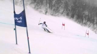 第91回全日本スキー選手権大会 女子GS3位 長谷川絵美の1本目&2本目.